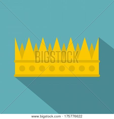 Regal crown icon. Flat illustration of regal crown vector icon for web