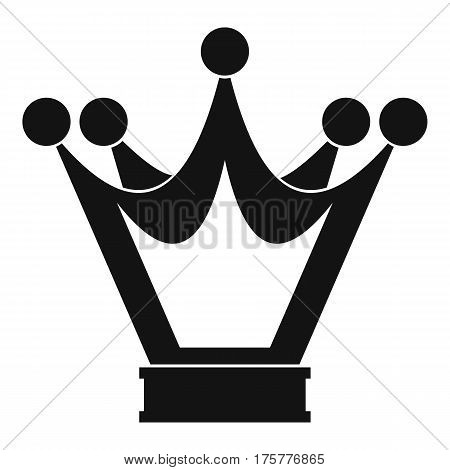 Princess crown icon. Simple illustration of princess crown vector icon for web