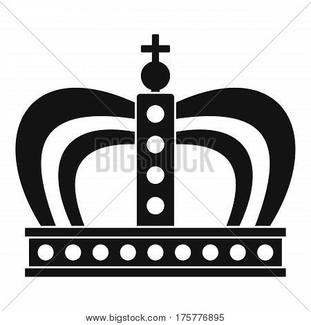 Monarchy crown icon. Simple illustration of monarchy crown vector icon for web