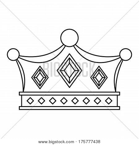 Prince crown icon. Outline illustration of prince crown vector icon for web