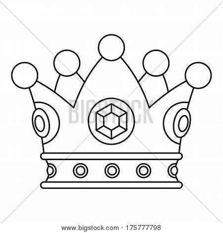 Precious crown icon. Outline illustration of precious crown vector icon for web