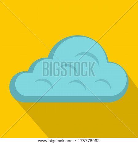 Rainy cloud icon. Flat illustration of rainy cloud vector icon for web