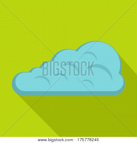 Cumulus cloud icon. Flat illustration of cumulus cloud vector icon for web