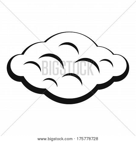 Curly cloud icon. Simple illustration of curly cloud vector icon for web