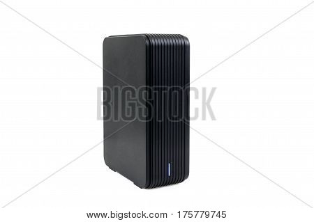 External hard drive on a white background.