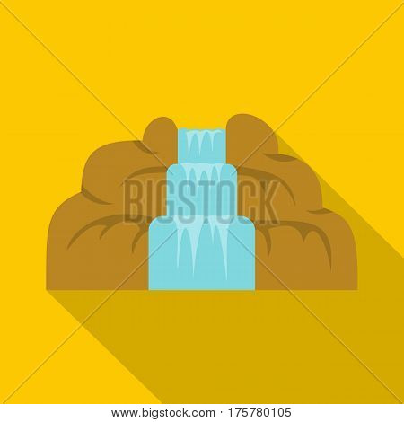Waterfall icon. Flat illustration of waterfall vector icon for web