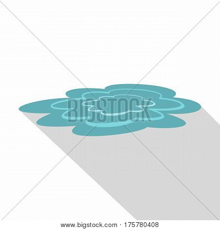 Water puddle icon. Flat illustration of water puddle vector icon for web