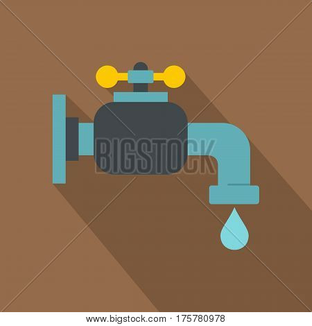 Water tap icon. Flat illustration of water tap vector icon for web