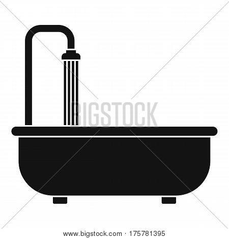Bathroom icon. Simple illustration of bathroom vector icon for web
