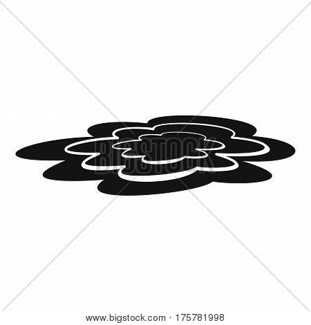 Water puddle icon. Simple illustration of water puddle vector icon for web
