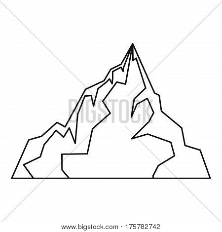 Iceberg icon. Outline illustration of iceberg vector icon for web