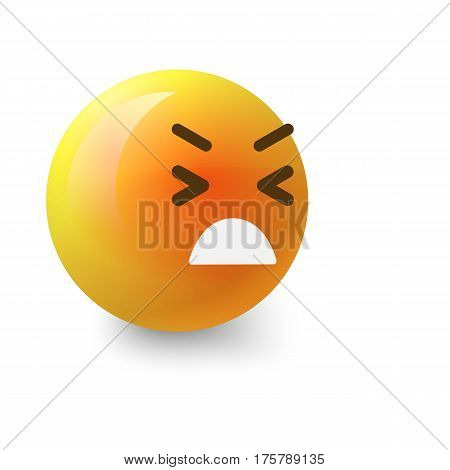 Painfully smiley icon. Cartoon illustration of painfully smiley vector icon for web