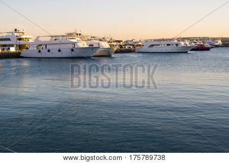 Berth With Yachts. Berth With Yachts. Beautiful Marina In Egypt.