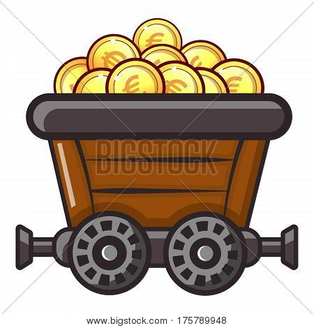 Money trolley icon. Flat illustration of money trolley vector icon for web
