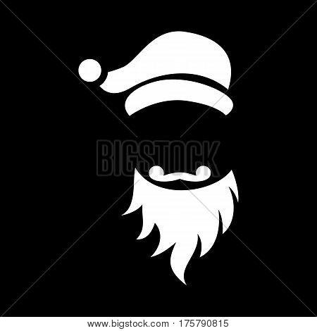 Glad santa icon. Simple illustration of glad santa vector icon for web