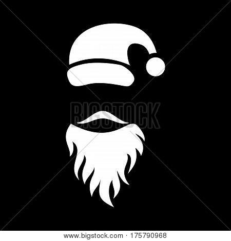 Mustache santa icon. Simple illustration of mustache santa vector icon for web