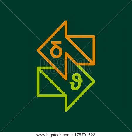Studying launguage icon. Outline illustration of studying launguage vector icon for web