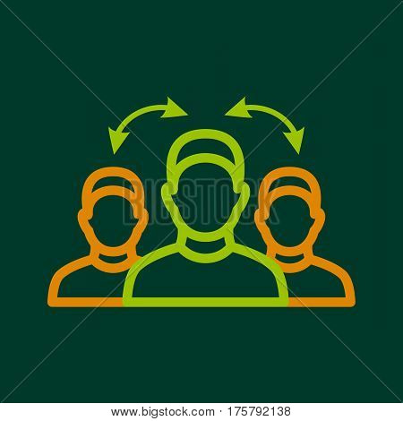 Interpretation icon. Outline illustration of interpretation vector icon for web