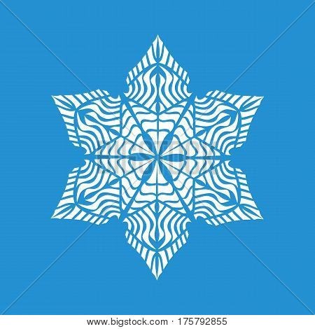 Small snowflake icon. Simple illustration of small snowflake vector icon for web