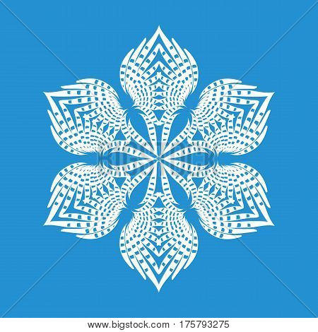 Figured snowflake icon. Simple illustration of figured snowflake vector icon for web