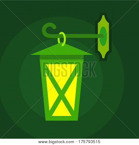 Street light icon. Flat illustration of street light vector icon for web