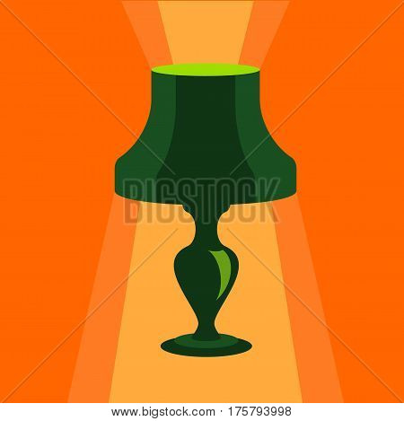 Shade lamp icon. Flat illustration of shade lamp vector icon for web