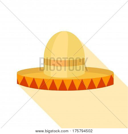 Sombrero icon. Flat illustration of sombrero vector icon for web