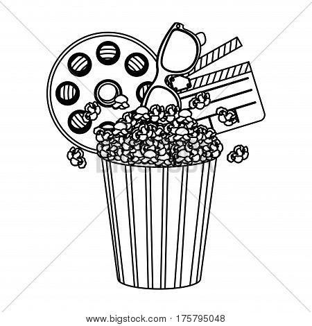 pop corn, film and clipart icon, vector illustraction design