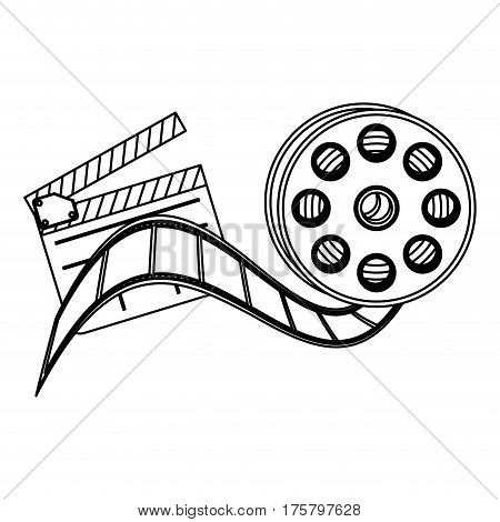 clapper board film and film production icon, vector illustraction design