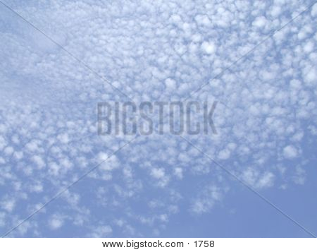 clouds on blue sky poster