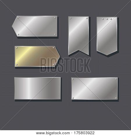 Arrow, nameplate, gradient. Collection of vector design elements.