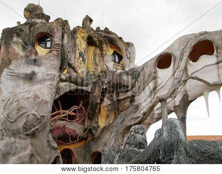 Da Lat, Vietnam - Feb 18, 2009: Crazy House -  Unusual Building Designed And Constructed By Madame D
