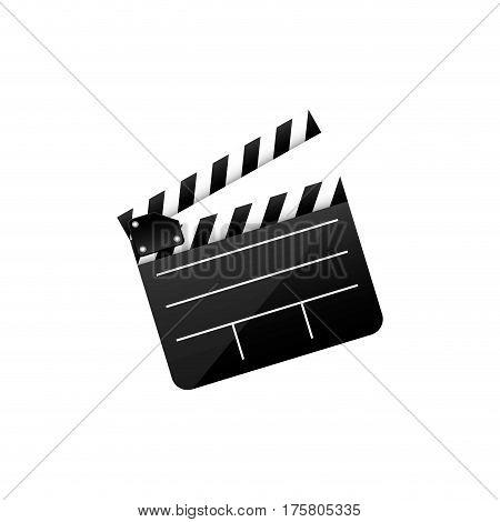 color clapper board film icon, vector illustraction design image