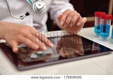 Scientist Examines X-ray