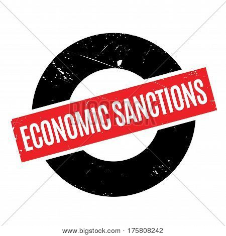 Economic Sanctions rubber stamp. Grunge design with dust scratches. Effects can be easily removed for a clean, crisp look. Color is easily changed.