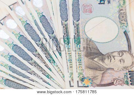 Japanese Yen Spread Background