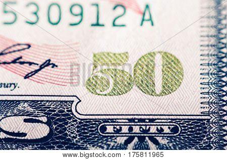 Fifty Dollar Bill - Macro Nb. 10