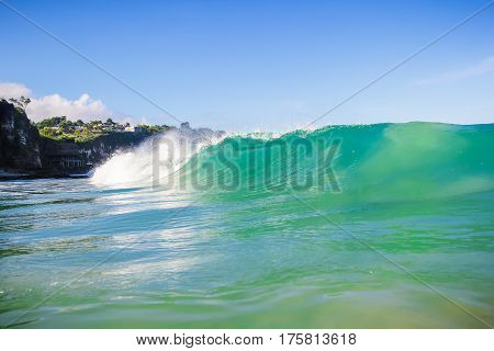 Ocean wave on Dreamland beach in Bali