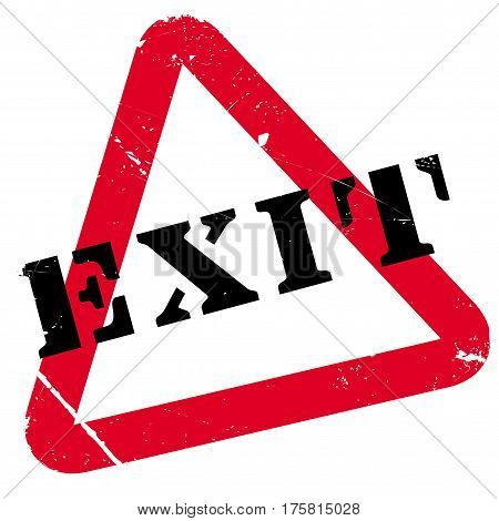 Exit rubber stamp. Grunge design with dust scratches. Effects can be easily removed for a clean, crisp look. Color is easily changed.