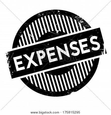 Expenses rubber stamp. Grunge design with dust scratches. Effects can be easily removed for a clean, crisp look. Color is easily changed.