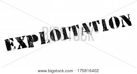 Exploitation rubber stamp. Grunge design with dust scratches. Effects can be easily removed for a clean, crisp look. Color is easily changed.