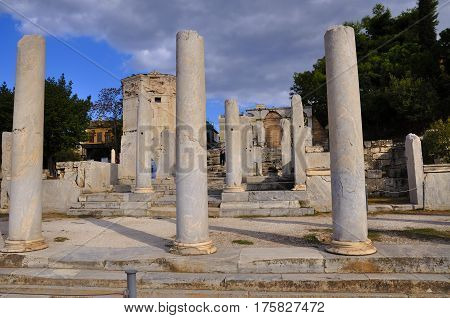 Ruins of Agora was the cultural and religious center i economic