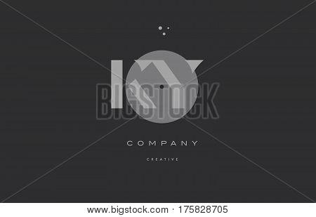 Ky K Y  Grey Modern Alphabet Company Letter Logo Icon