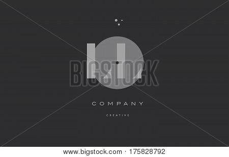 Ll L  Grey Modern Alphabet Company Letter Logo Icon