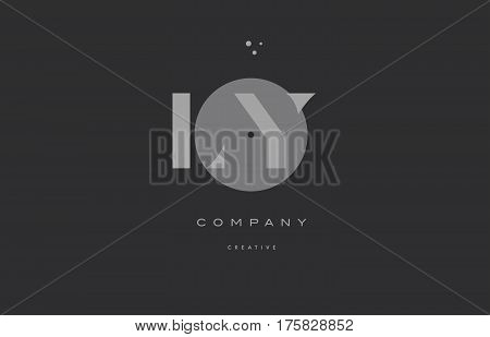 Ly L Y  Grey Modern Alphabet Company Letter Logo Icon