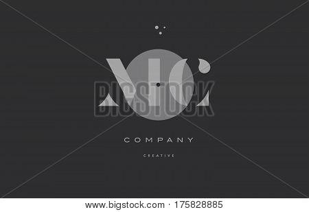 Mc M C  Grey Modern Alphabet Company Letter Logo Icon