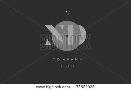 Nd N D  Grey Modern Alphabet Company Letter Logo Icon