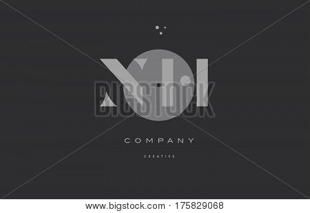 Nh N H  Grey Modern Alphabet Company Letter Logo Icon