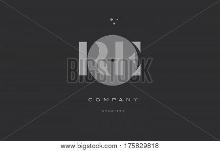 Re R E  Grey Modern Alphabet Company Letter Logo Icon