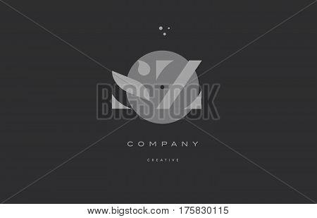 Sz S Z  Grey Modern Alphabet Company Letter Logo Icon